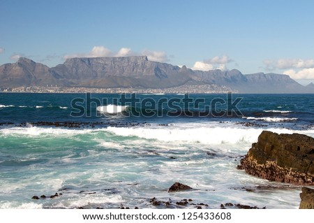 Cape Town from Robbin Island