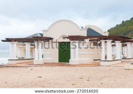 CAPE TOWN, SOUTH AFRICA - DECEMBER 12, 2014:  The ablution facilities at Muizenberg beach. The beach is popular with surfers