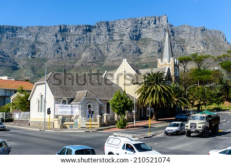CAPE TOWN, SOUTH AFRICA - FEB 22, 2013: Architecture of Cape Town, South Africa. Cape town is the most popular international touristic destination in Africa - stock photo
