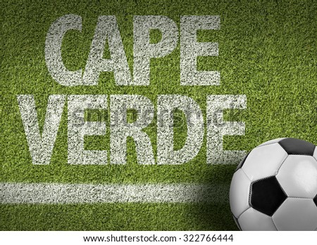 Cape Verde Ball in a Soccer field