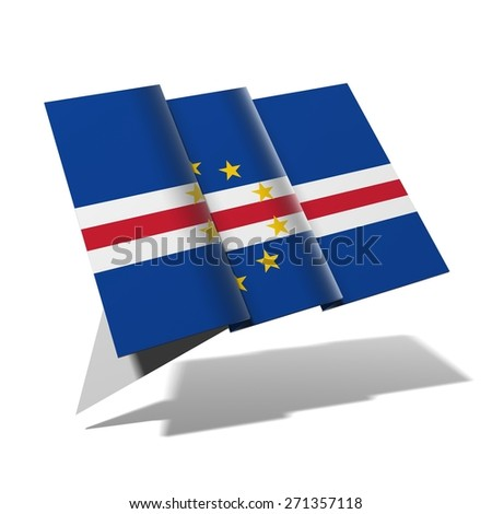 Cape Verde flag 3D banner - stock photo