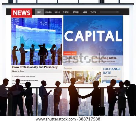 Capital Finance Business Money Profit Concept - stock photo