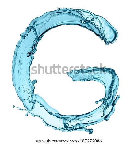 Capital letter g water alphabet isolated stock photo safe to use capital letter g of water alphabet isolated on white background altavistaventures Images
