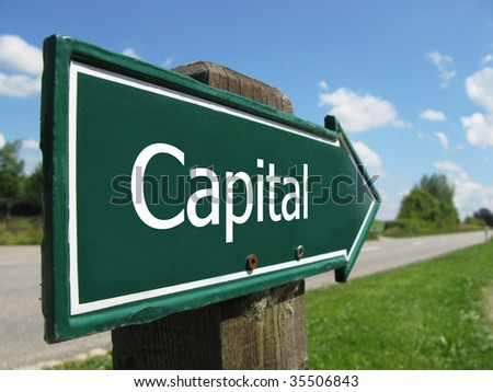Capital road sign