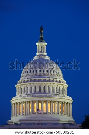 Capitol at night - stock photo