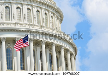 Capitol Building dome in Washington DC United States