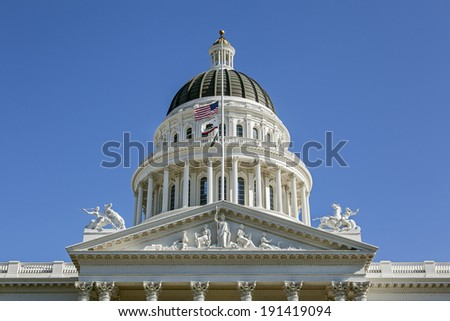 Capitol Building in Sacramento, California - stock photo