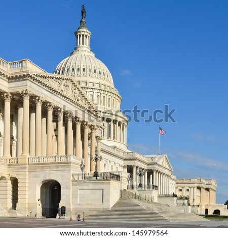 Capitol Building in Washington DC, United States - stock photo