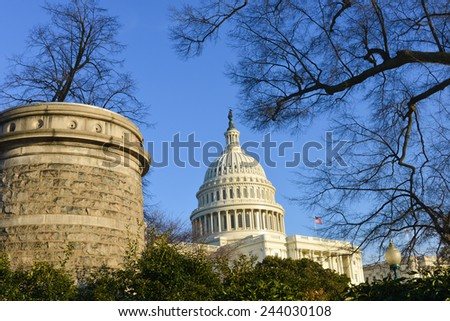 Capitol Building in winter - Washington DC, USA