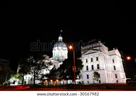 capitol building of the state of indiana - stock photo