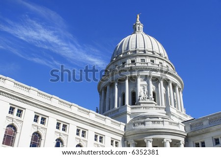Capitol Dome, Madison, Wisconsin - stock photo