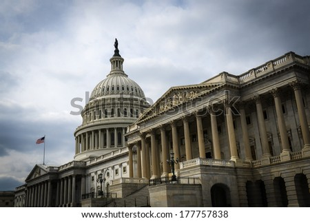Capitol Hill Building - stock photo