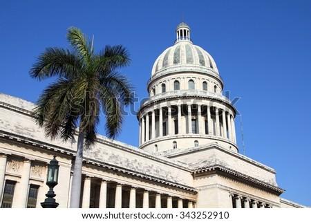 Capitol in Havana, Cuba - stock photo