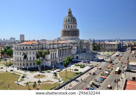 Capitolio of Havana, Cuba - stock photo