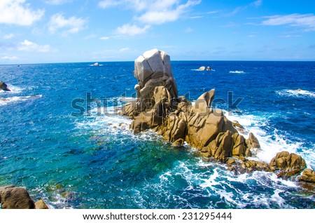 Capo Testa - Sardinia Coast - stock photo