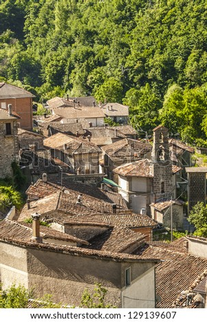 Capodacqua (Ascoli Piceno, Marches, Italy) - Panoramic view at summer