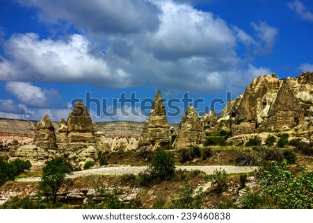 Cappadocia. Volcanic mountains in Goreme national park. - stock photo