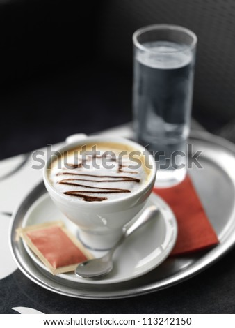 Cappuccino coffee - stock photo
