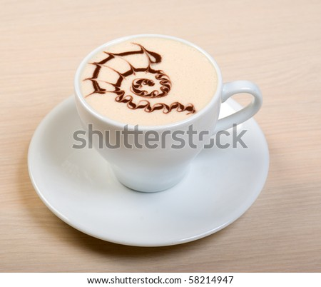 cappuccino cup.coffee   close up
