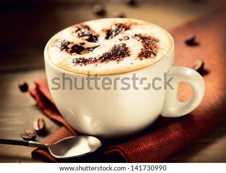 Cappuccino. Cup of Cappuccino Coffee - stock photo