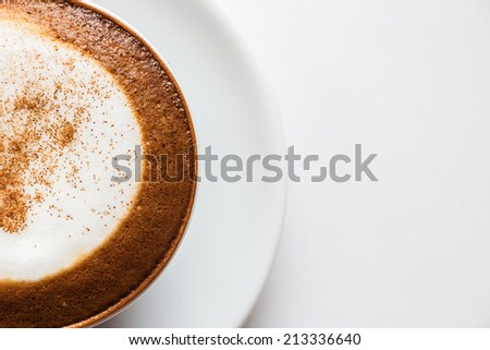 Cappuccino cup of coffee. - stock photo