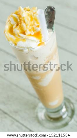 Cappuccino frappe - stock photo