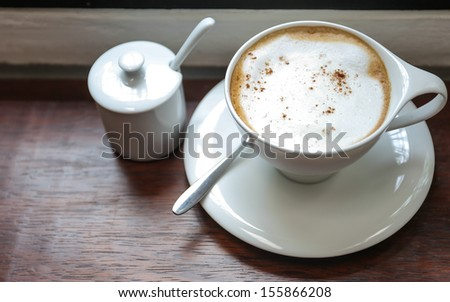 Cappuccino time - stock photo