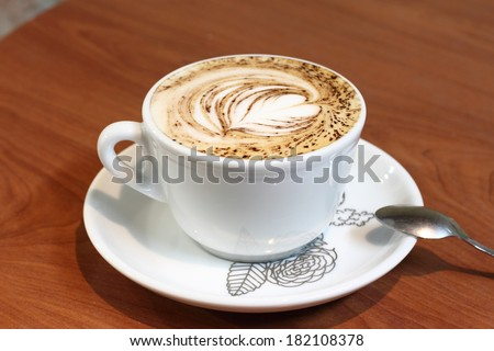 cappucino. Cup of coffee