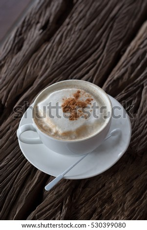 cappucino wood background