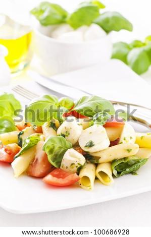 Caprese Pasta Salad - stock photo