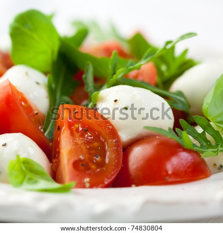 Caprese salad closeup - stock photo