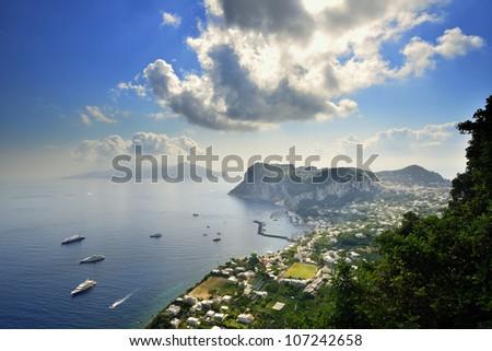 Capri Island - Italy - stock photo
