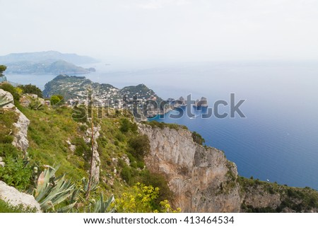 Capri -Italy: View from the top of Anacapri
