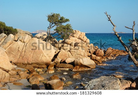 Capriccioli beach - Costa Smeralda, Sardinia - stock photo