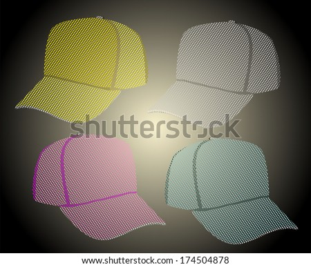 Caps. Baseball caps - stock photo