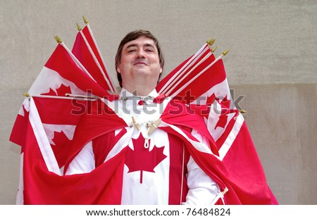 Captain Canada - stock photo