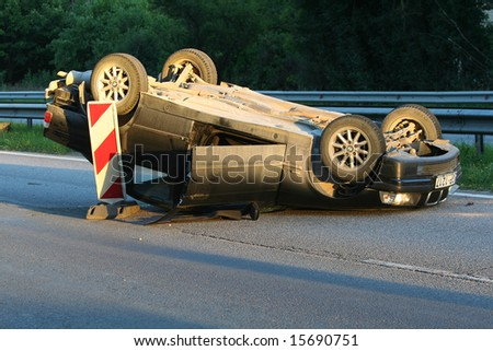 car accident - stock photo