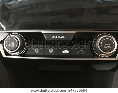car aircond push on off button