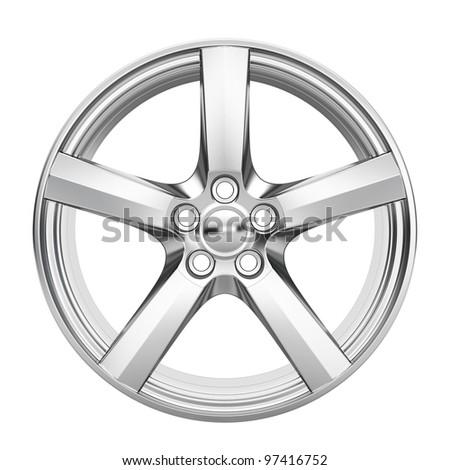 Car alloy wheel - stock photo