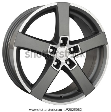 car alloy wheel, isolated
