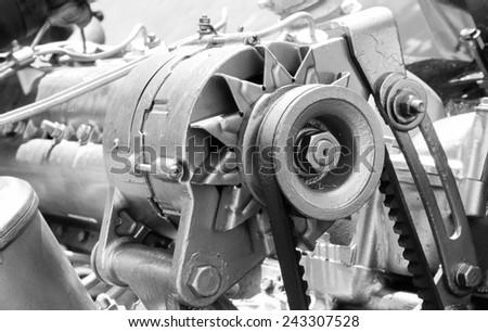 Car alternator - stock photo