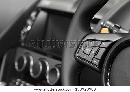 Car audio control - stock photo