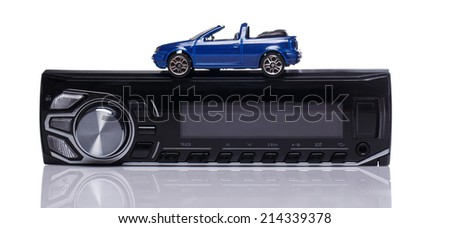 Car audio over white background - stock photo