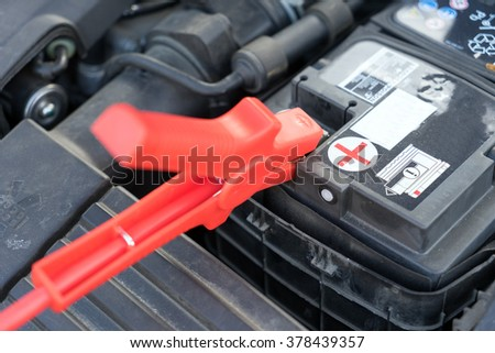 Car battery and starter booster cable / Car battery