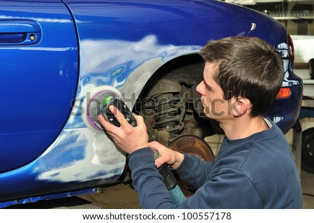 Car body work. - stock photo