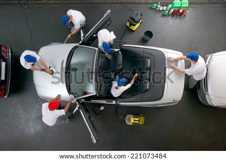 Car cleaning at its best - stock photo