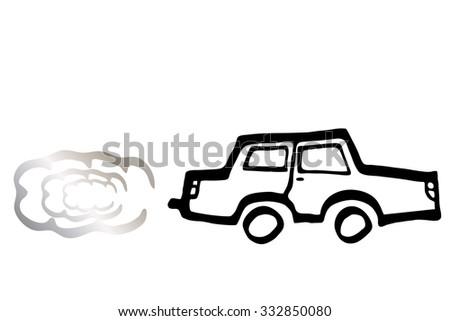 car, co2 - stock photo