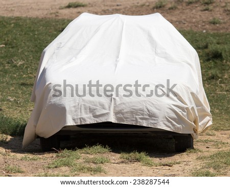 car cover - stock photo