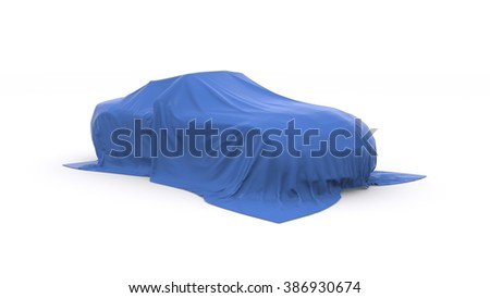 car covered with cloth - stock photo