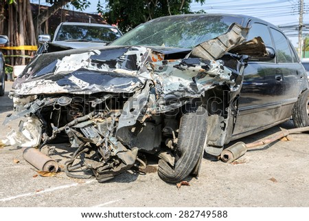 car crash accident - stock photo
